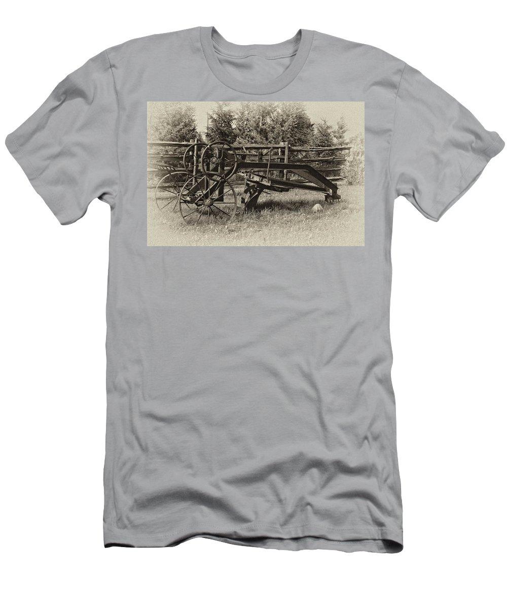 Antique Men's T-Shirt (Athletic Fit) featuring the photograph Snowplow by Steve Harrington