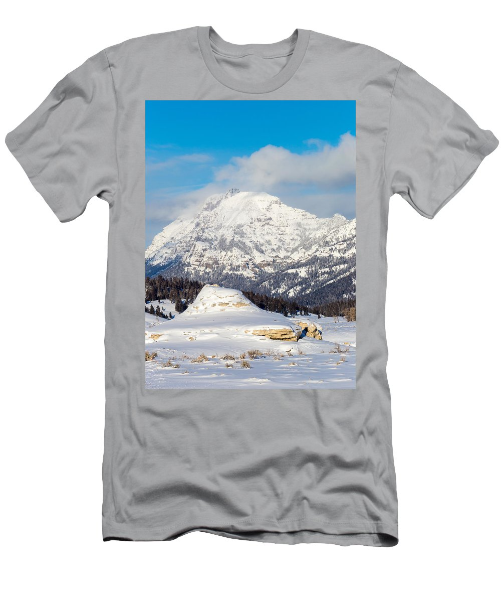 Sky Men's T-Shirt (Athletic Fit) featuring the photograph Soda Butte by Michael Chatt