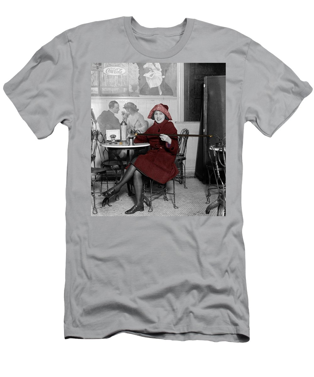 Soda Fountain Men's T-Shirt (Athletic Fit) featuring the photograph Soda Fountain 3 by Andrew Fare