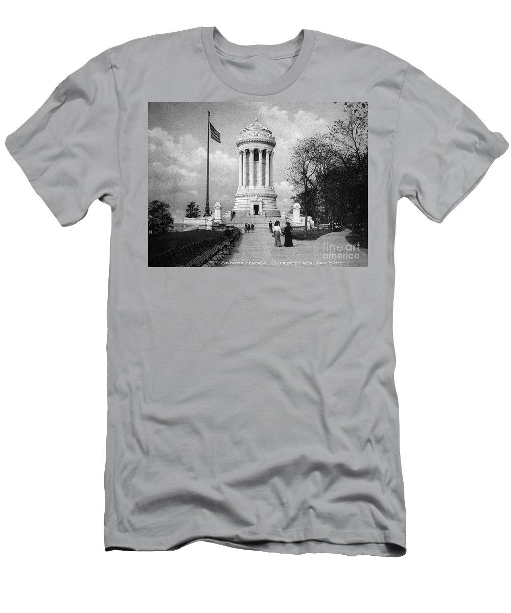 Soldiers Memorial Men's T-Shirt (Athletic Fit) featuring the photograph Soldiers Memorial - Ny by Paul W Faust - Impressions of Light