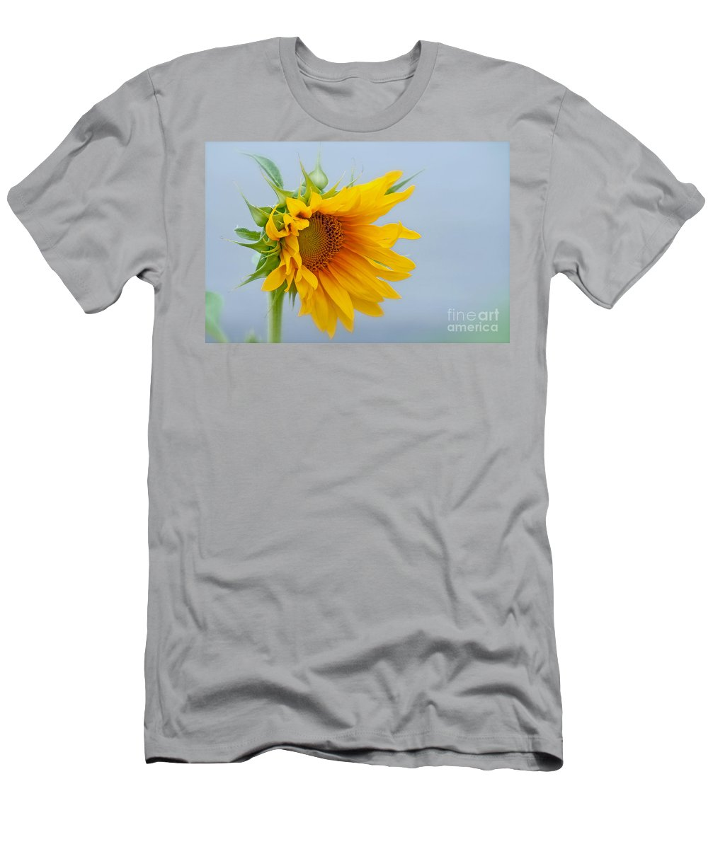 Sunflower Men's T-Shirt (Athletic Fit) featuring the photograph Sometimes We Feel Like This ... by Gwyn Newcombe
