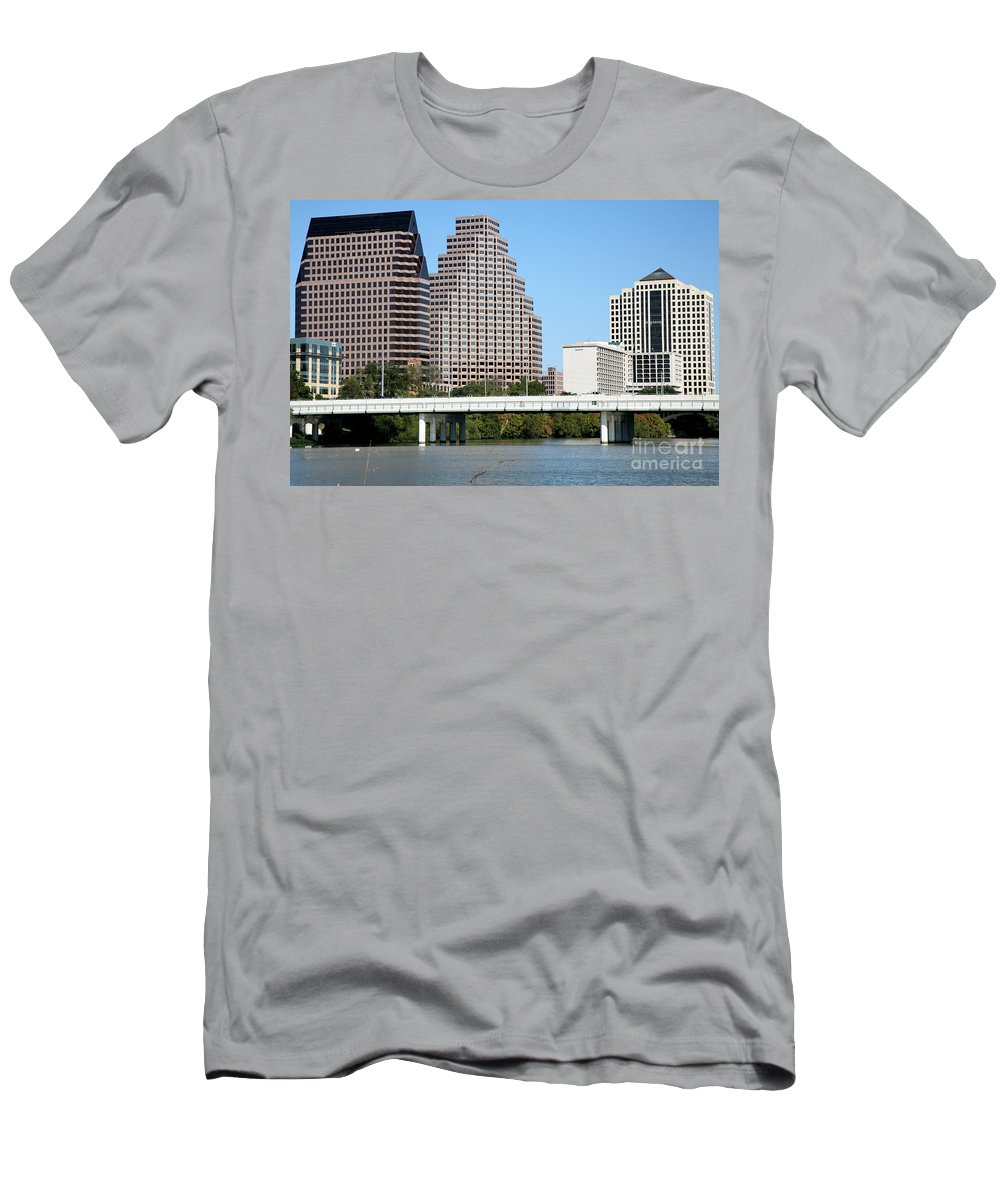 Austin Men's T-Shirt (Athletic Fit) featuring the photograph South First Street Bridge by Bill Cobb