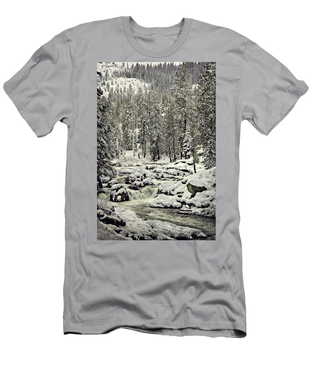 Sierra's Men's T-Shirt (Athletic Fit) featuring the photograph South Yuba River by Shawn McMillan