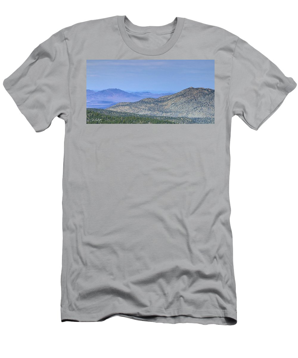 April Men's T-Shirt (Athletic Fit) featuring the photograph Southwest Views by Phill Doherty