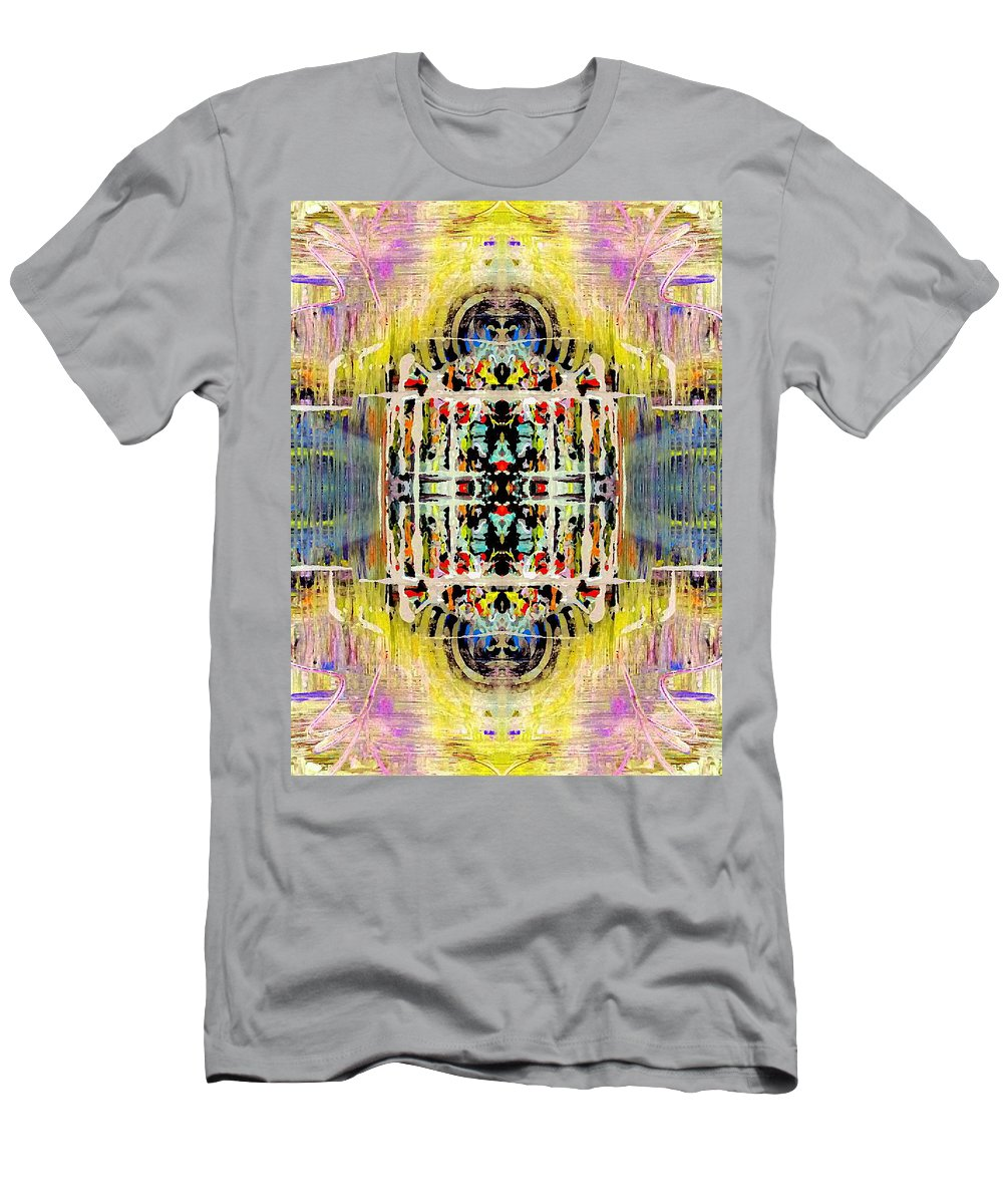 Yellow Men's T-Shirt (Athletic Fit) featuring the digital art Spaced Out by Lady Ex