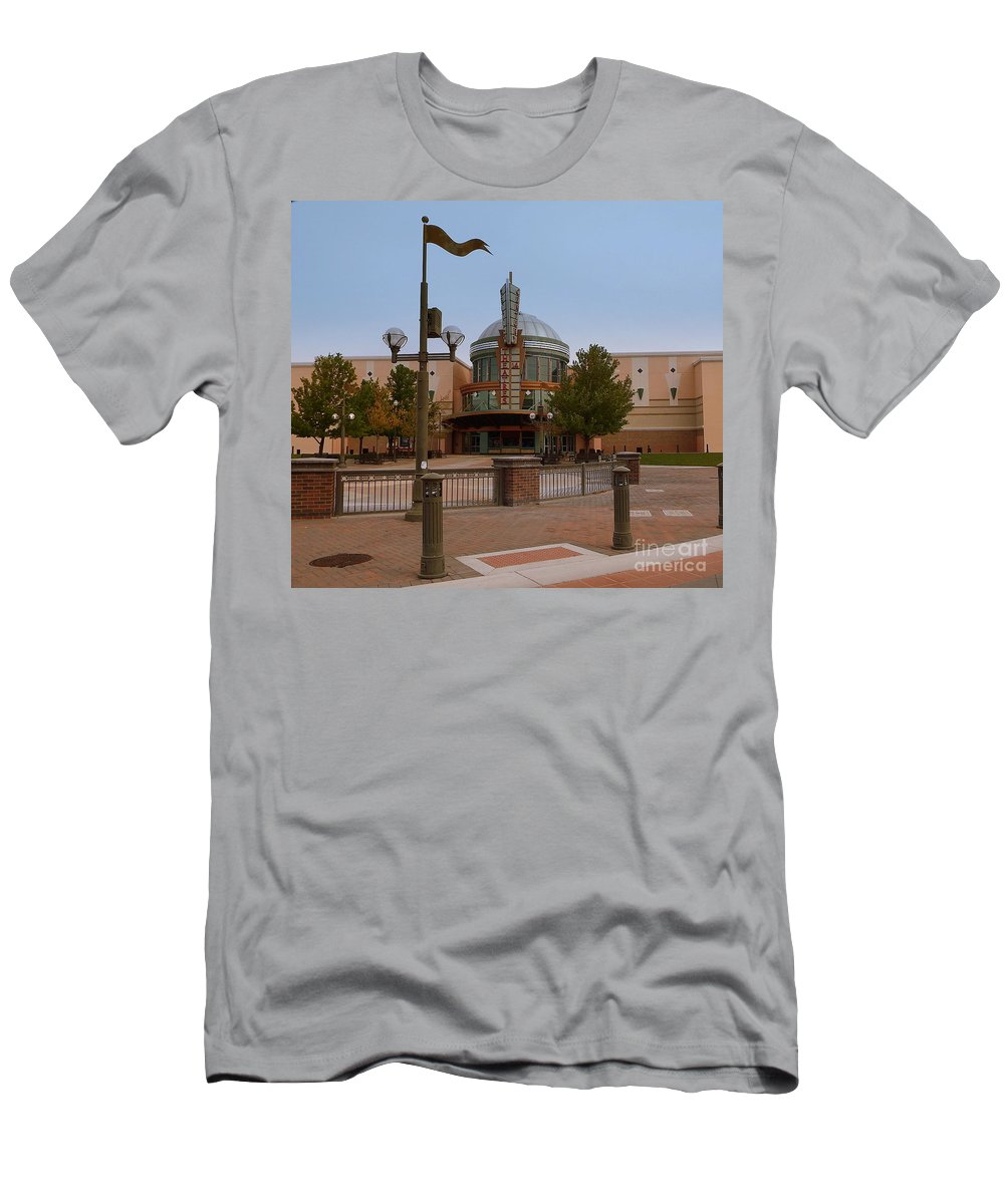 Acrylic Prints Men's T-Shirt (Athletic Fit) featuring the photograph Sparks Theater by Bobbee Rickard