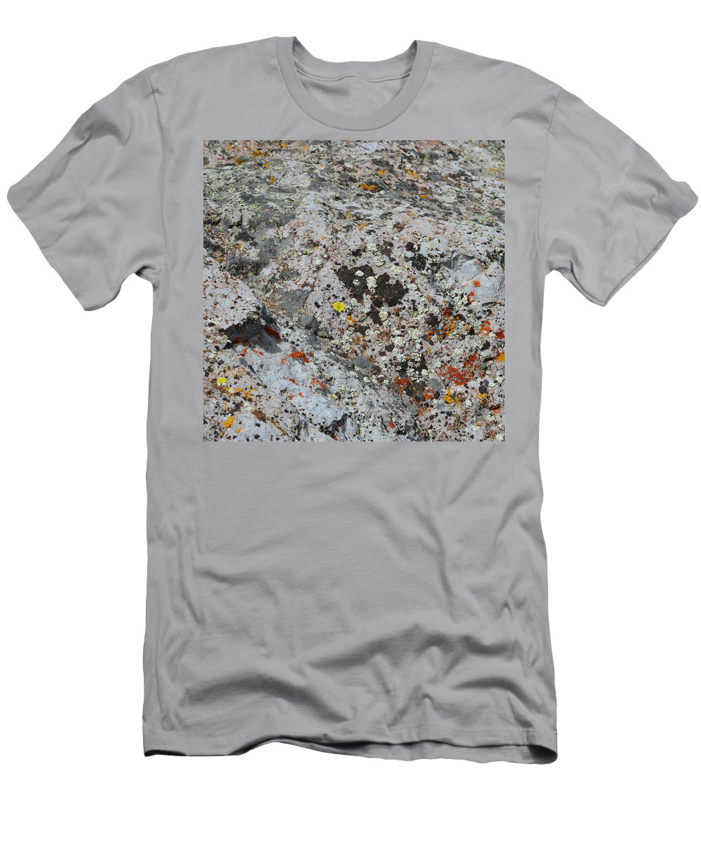 Lichen Men's T-Shirt (Athletic Fit) featuring the photograph Specks by Brent Dolliver