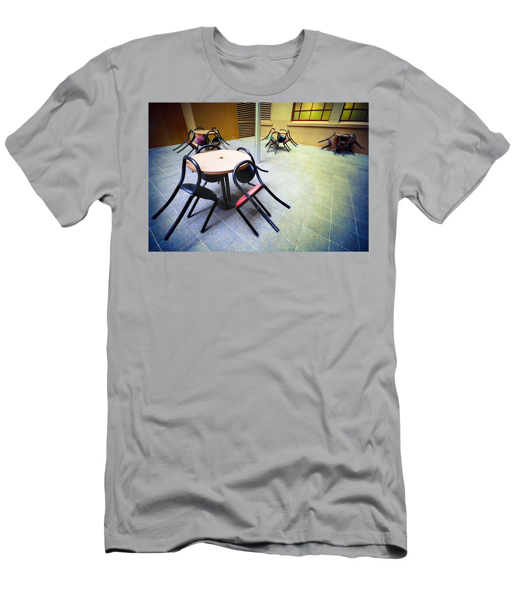 Chairs Men's T-Shirt (Athletic Fit) featuring the photograph Spiders From Mars by Wayne Sherriff