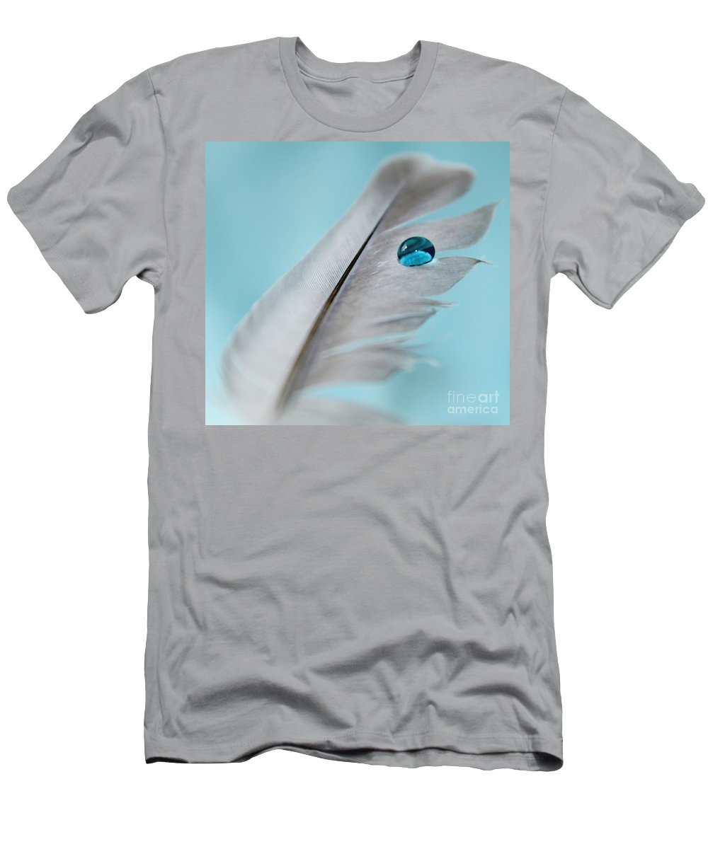 Feather Men's T-Shirt (Athletic Fit) featuring the photograph Spirit Guide by Krissy Katsimbras