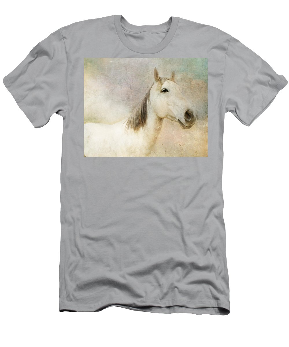 Horse Men's T-Shirt (Athletic Fit) featuring the photograph Spirit Horse by Terry Fleckney