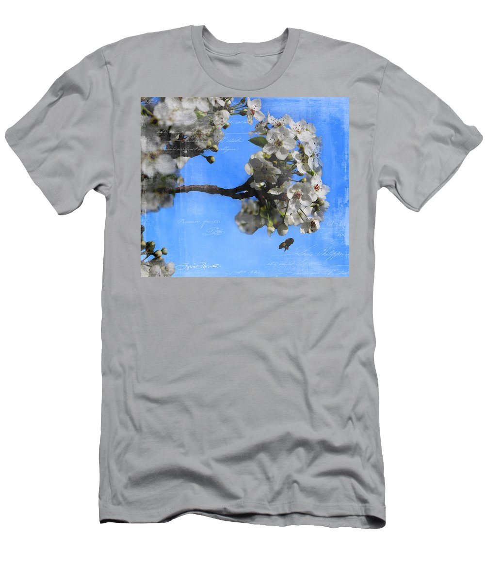 Spring Bee Men's T-Shirt (Athletic Fit) featuring the photograph Spring Bee by Sylvia Thornton