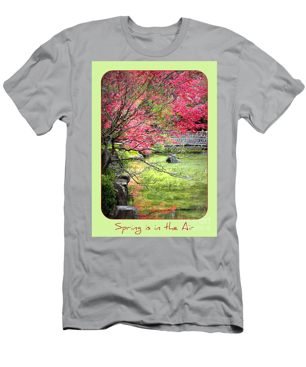 Japanese Garden Men's T-Shirt (Athletic Fit) featuring the photograph Spring Is In The Air by Carol Groenen