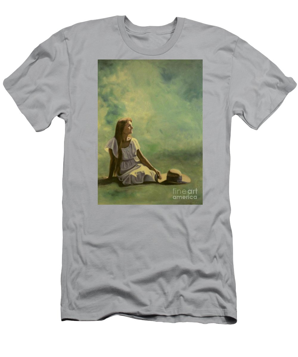 Figurative Men's T-Shirt (Athletic Fit) featuring the painting Spring by Michael John Cavanagh