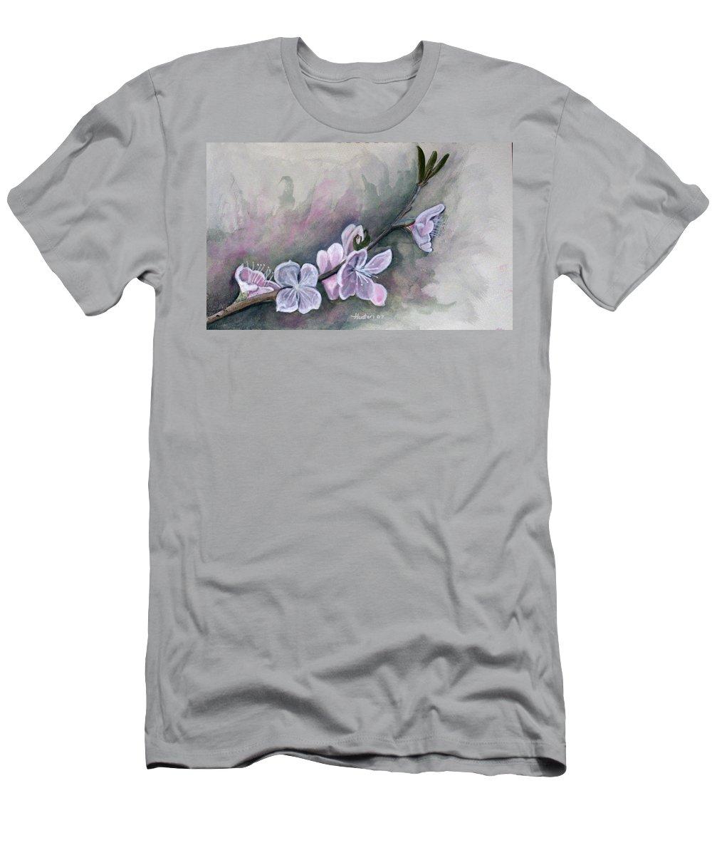 Rick Huotari Men's T-Shirt (Athletic Fit) featuring the painting Spring Splendor by Rick Huotari