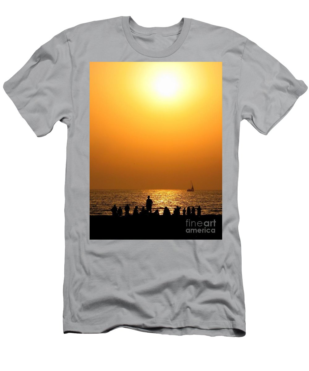 Sunset Men's T-Shirt (Athletic Fit) featuring the photograph St. Petersburg Sunset by Peggy Hughes