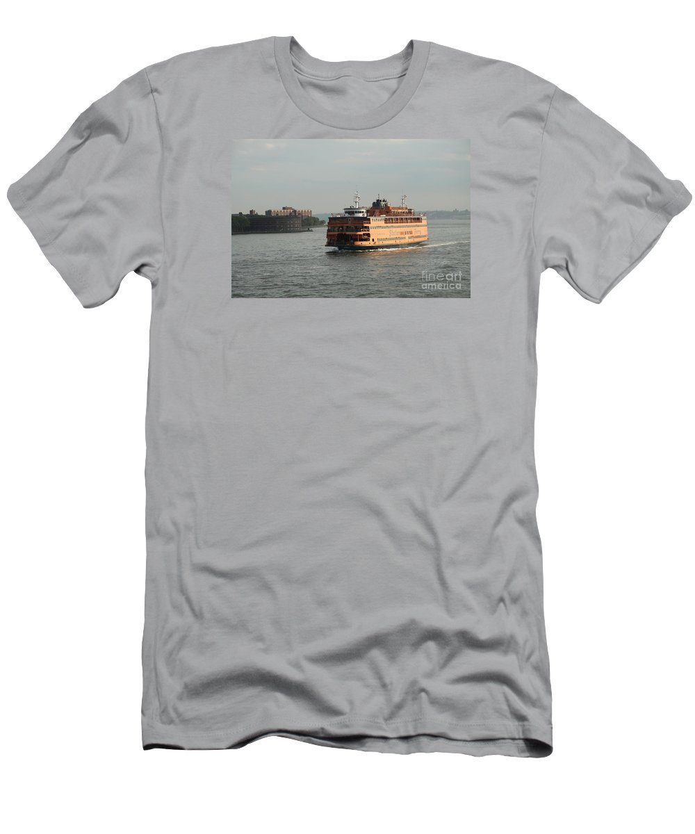 Ferry Men's T-Shirt (Athletic Fit) featuring the photograph Staten Island Ferry by Christiane Schulze Art And Photography