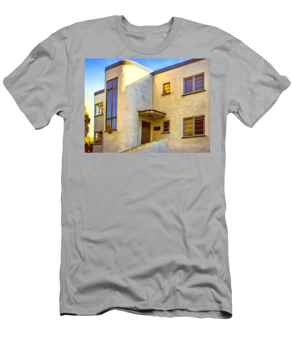 Streamline Modern Men's T-Shirt (Athletic Fit) featuring the painting Streamline Moderne 2 by Dominic Piperata