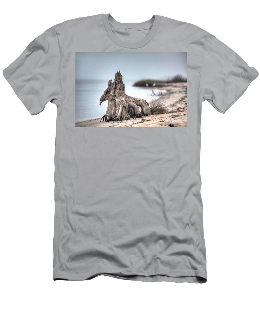 Tree Men's T-Shirt (Athletic Fit) featuring the photograph Stump Dragon by Joan McCool