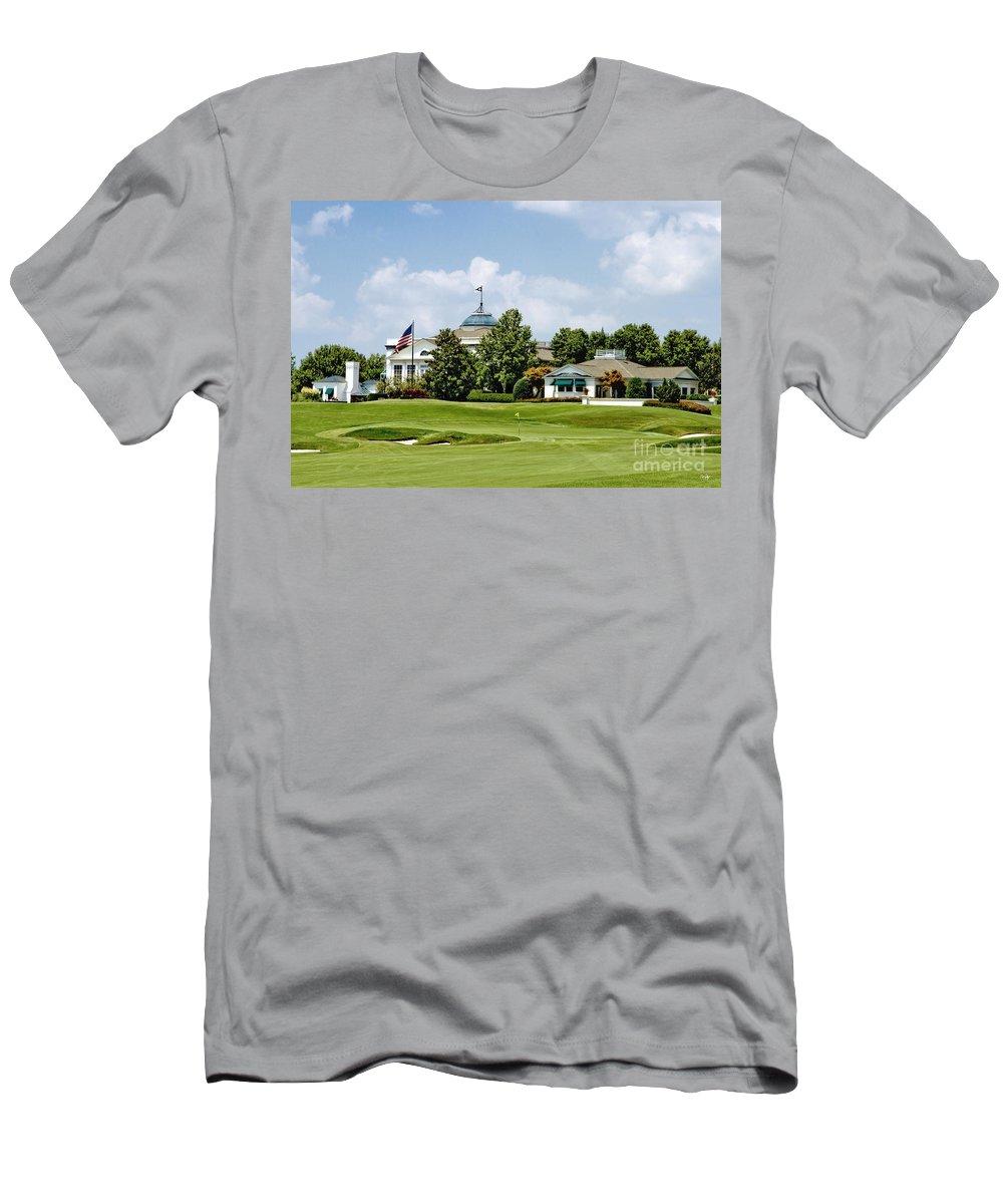 Golf Men's T-Shirt (Athletic Fit) featuring the photograph Sucker Pin by Scott Pellegrin