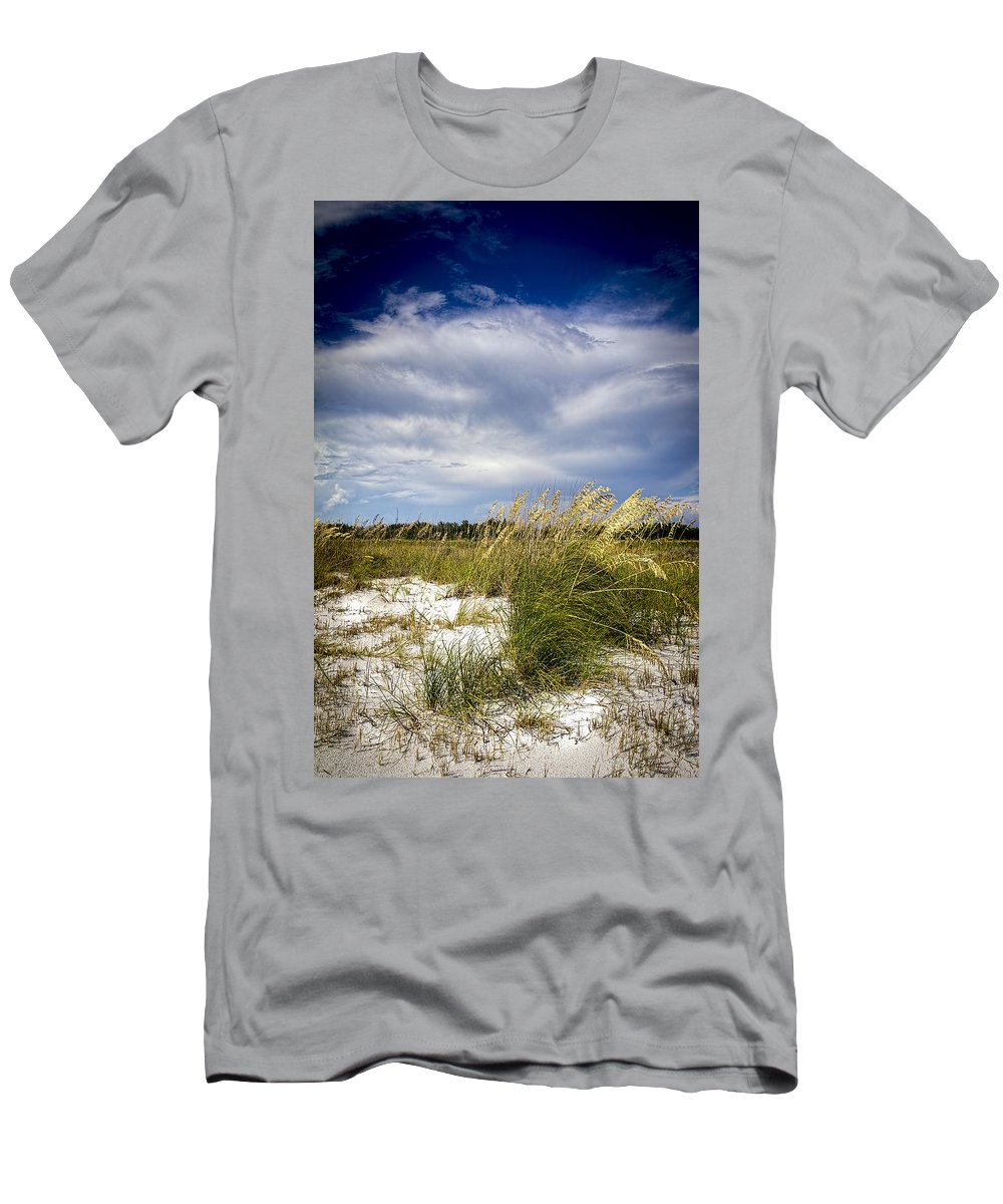 Florida Sunset T-Shirt featuring the photograph Sugar Sand And Sea Oats by Marvin Spates