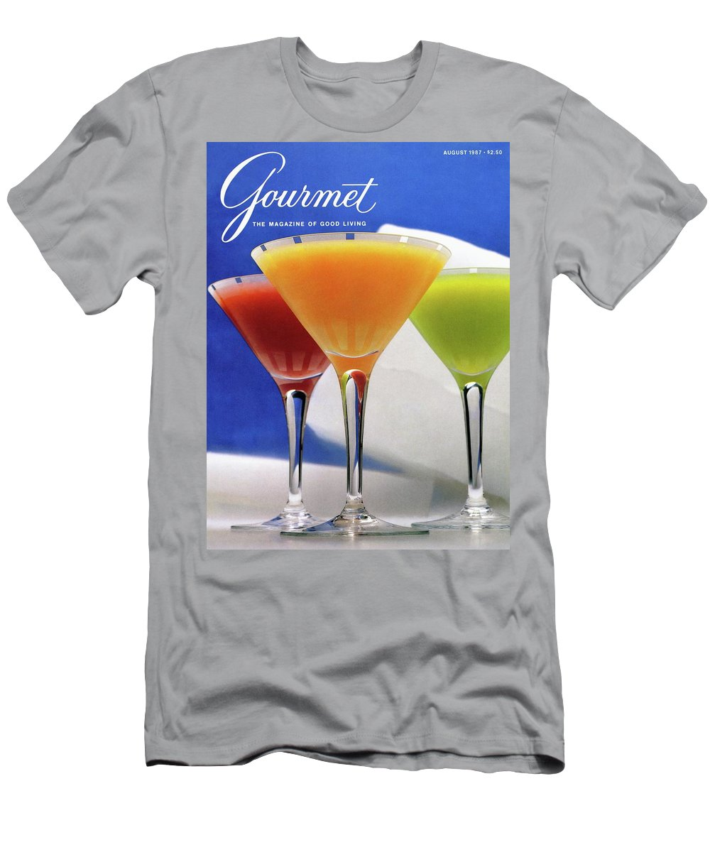 Food Men's T-Shirt (Athletic Fit) featuring the photograph Summer Cocktails by Romulo Yanes