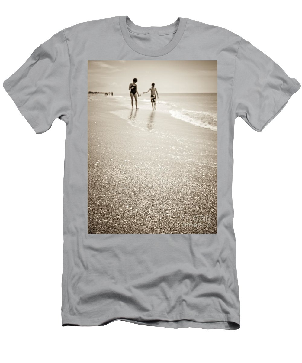Beach Men's T-Shirt (Athletic Fit) featuring the photograph Summer Memories by Edward Fielding