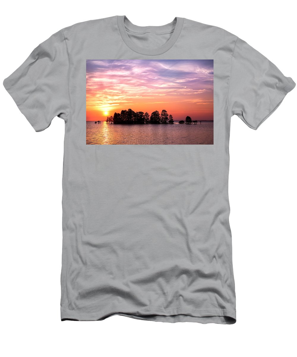 August Men's T-Shirt (Athletic Fit) featuring the photograph Summer Sunrise by Cindy Archbell