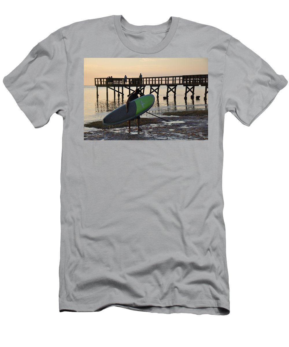 Summer Men's T-Shirt (Athletic Fit) featuring the photograph Summer Surfer by Bill Cannon
