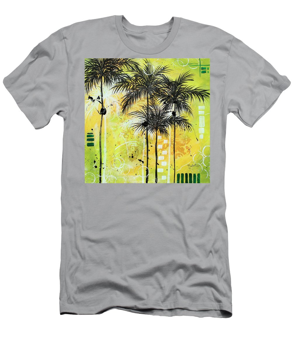 Wall Men's T-Shirt (Athletic Fit) featuring the painting Summer Time In The Tropics By Madart by Megan Duncanson