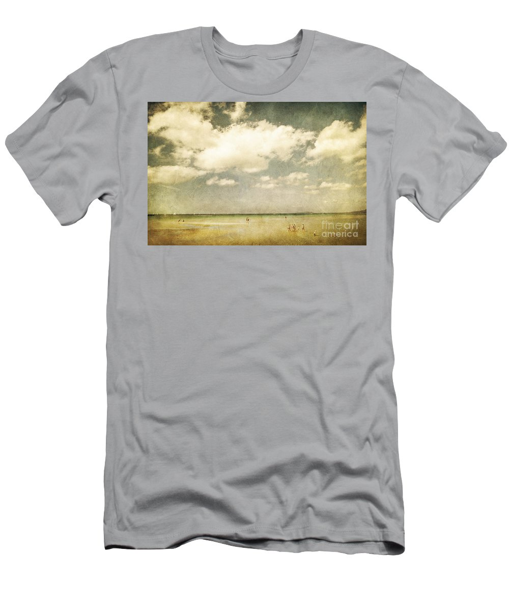 Beach Men's T-Shirt (Athletic Fit) featuring the photograph Summertide by Andrew Paranavitana