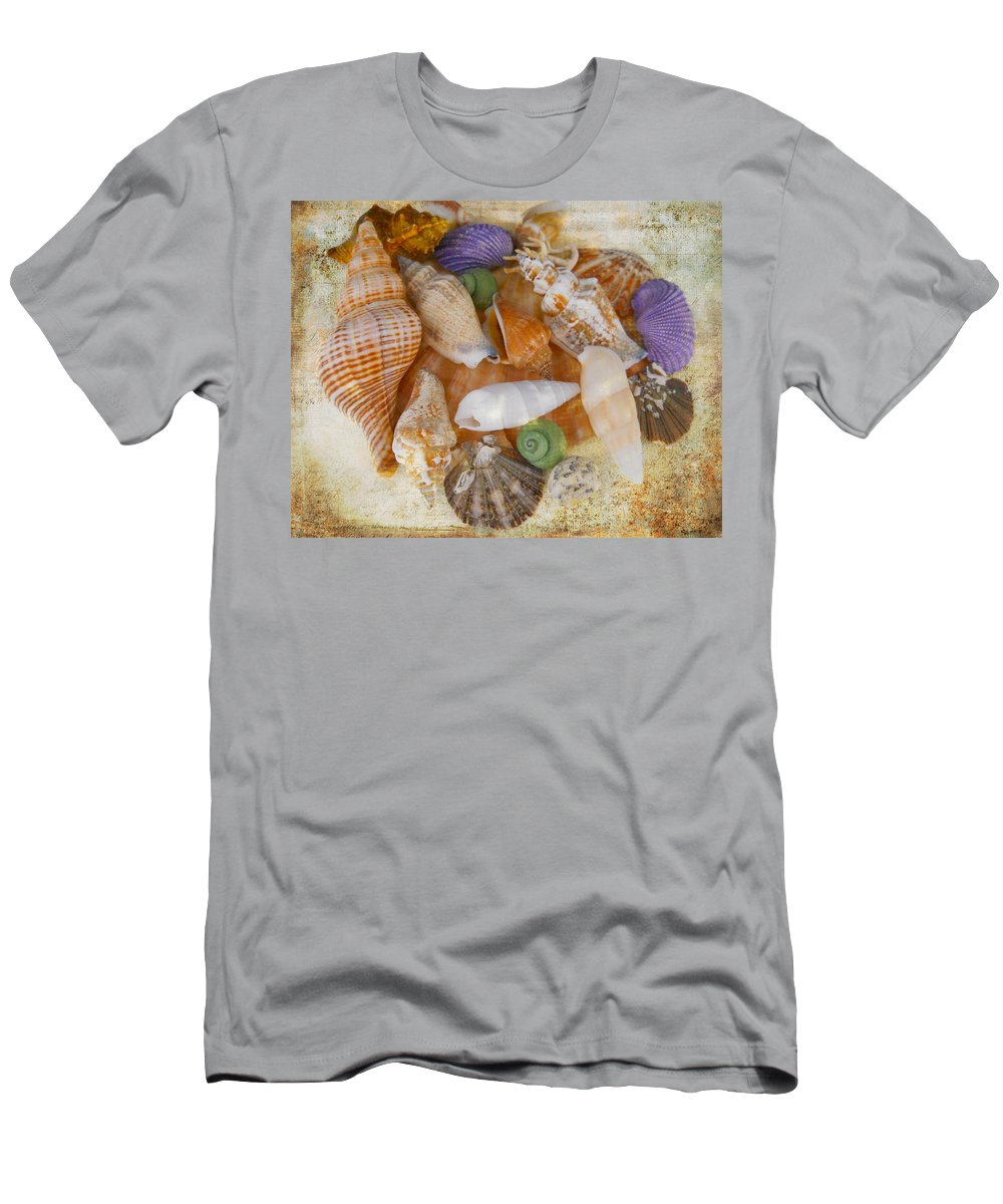 Shells Men's T-Shirt (Athletic Fit) featuring the photograph Summertime Relics by Judy Hall-Folde