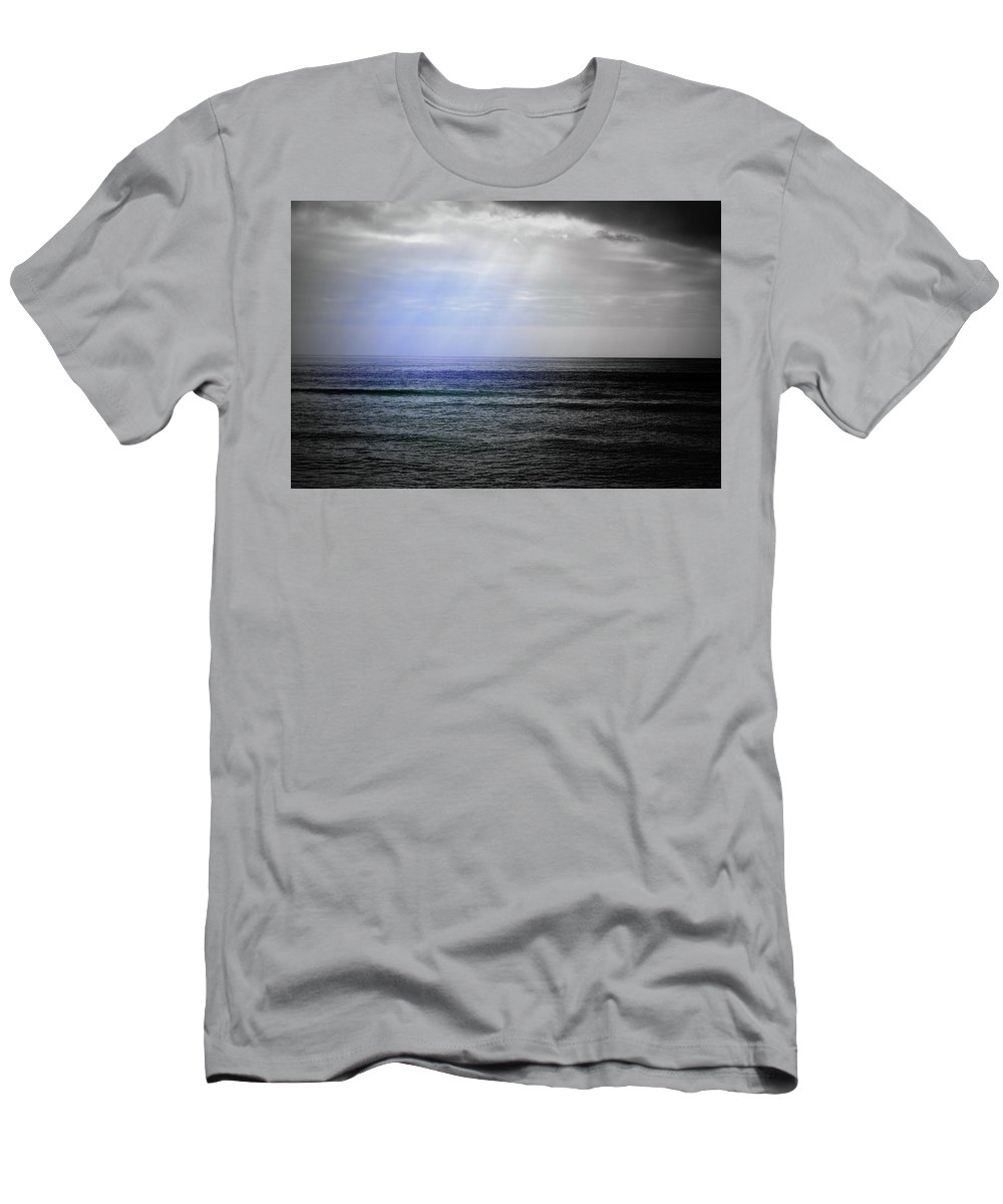 Digital Photograph Men's T-Shirt (Athletic Fit) featuring the photograph Sun Ray Shining Down by Laurie Pike