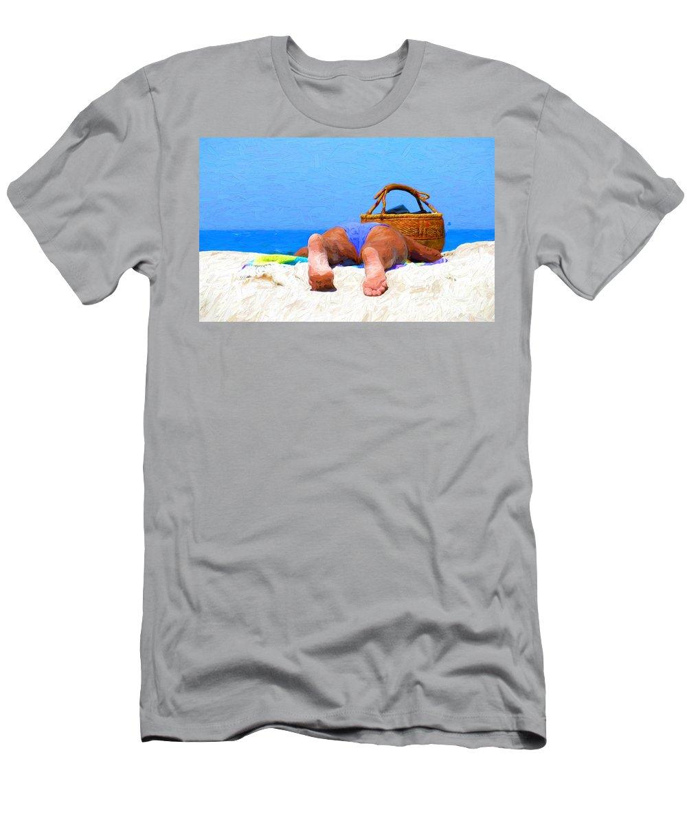 Australian Beach T-Shirt featuring the photograph Sunbaking Aussie style by Sheila Smart Fine Art Photography