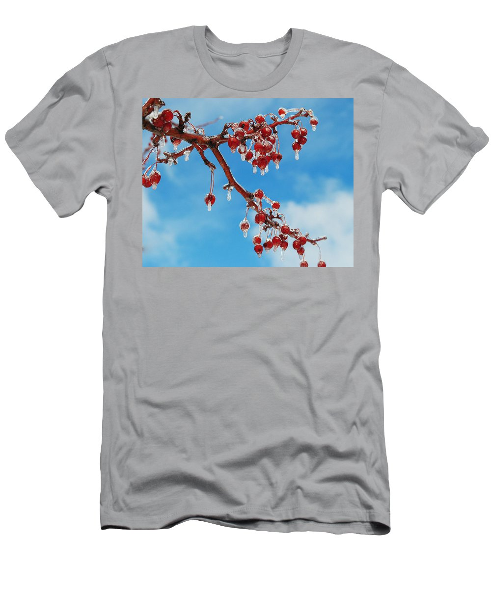 Cherries Men's T-Shirt (Athletic Fit) featuring the photograph Sunday With Cherries On Top by Frozen in Time Fine Art Photography