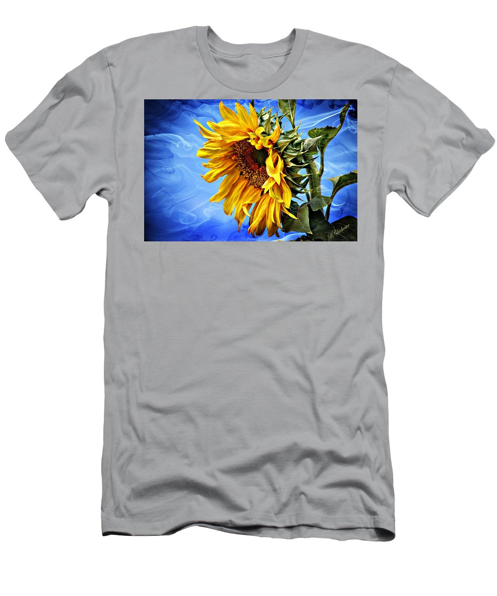 Sunflower Men's T-Shirt (Athletic Fit) featuring the photograph Sunflower Fantasy by Barbara Chichester
