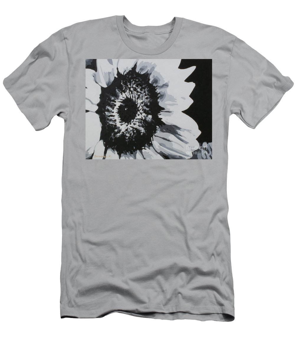 Sunflower Men's T-Shirt (Athletic Fit) featuring the painting Sunflower by Katharina Filus