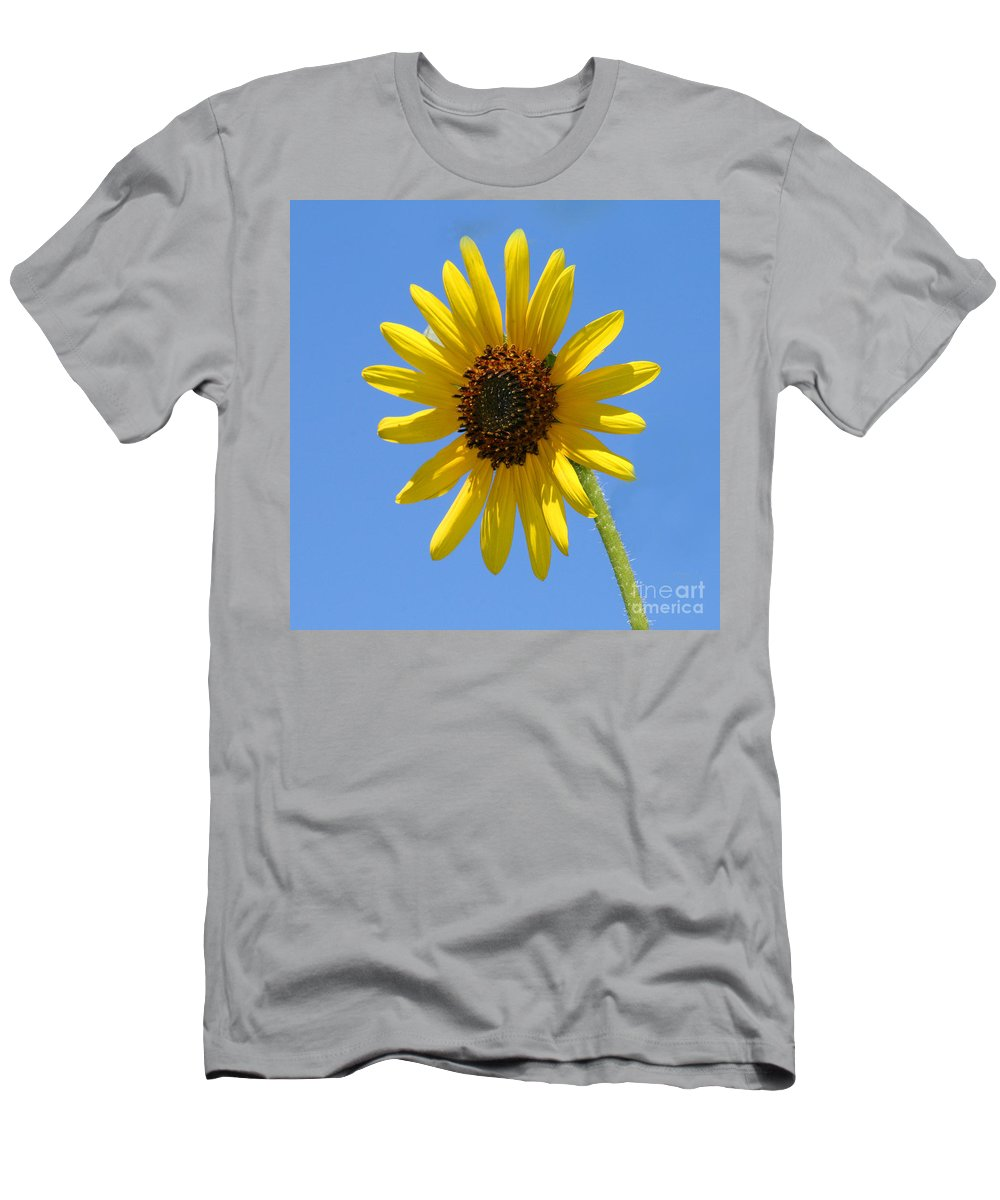 Men's T-Shirt (Athletic Fit) featuring the photograph Sunflower Square by Karen Adams