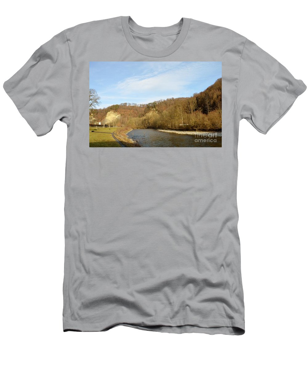 Landscape Men's T-Shirt (Athletic Fit) featuring the photograph Sunny Valley by Felicia Tica