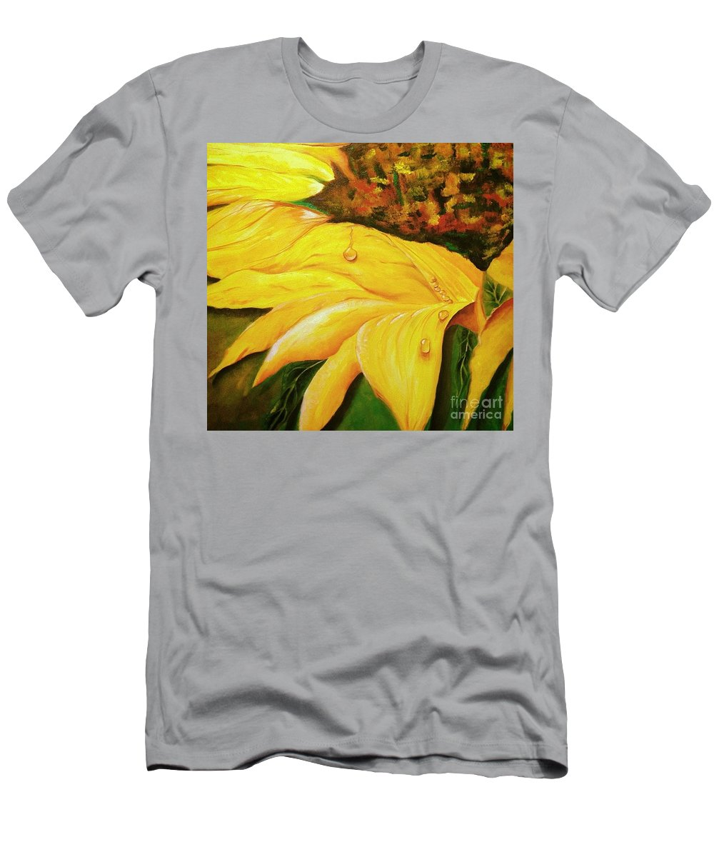 Floral Men's T-Shirt (Athletic Fit) featuring the painting Sunnyside Up by Suzanne Godau