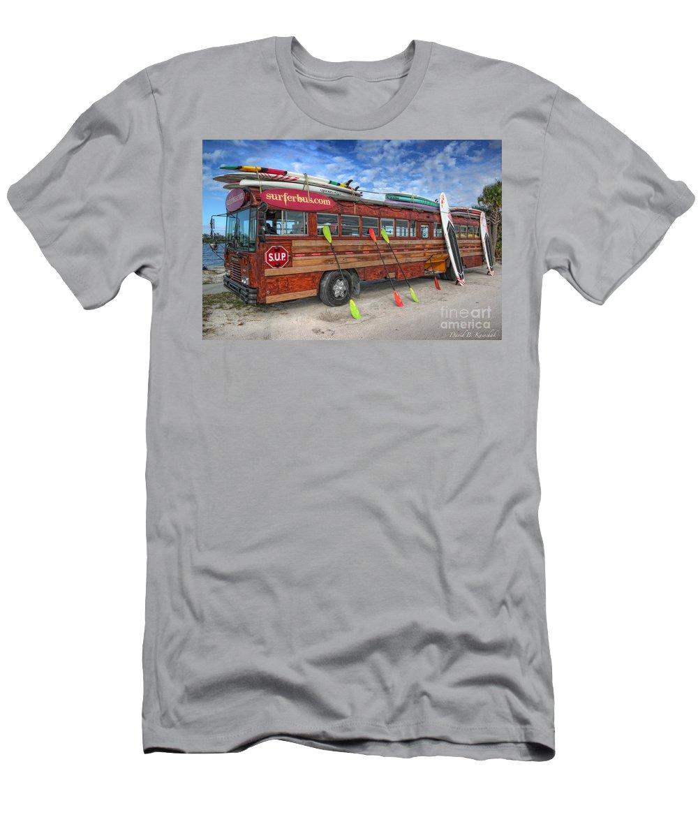 Surferbus Men's T-Shirt (Athletic Fit) featuring the photograph Surferbus by David B Kawchak Custom Classic Photography