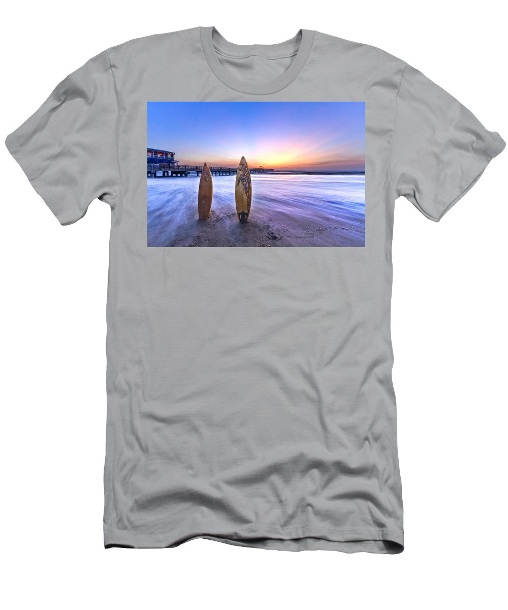 Benny's Men's T-Shirt (Athletic Fit) featuring the photograph Surf's Up by Debra and Dave Vanderlaan