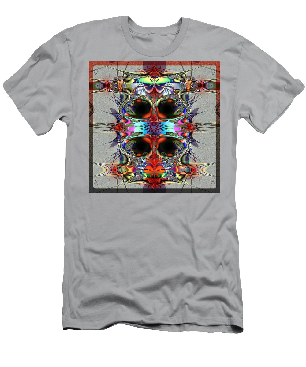 Taboo Men's T-Shirt (Athletic Fit) featuring the digital art Taboo by Kiki Art