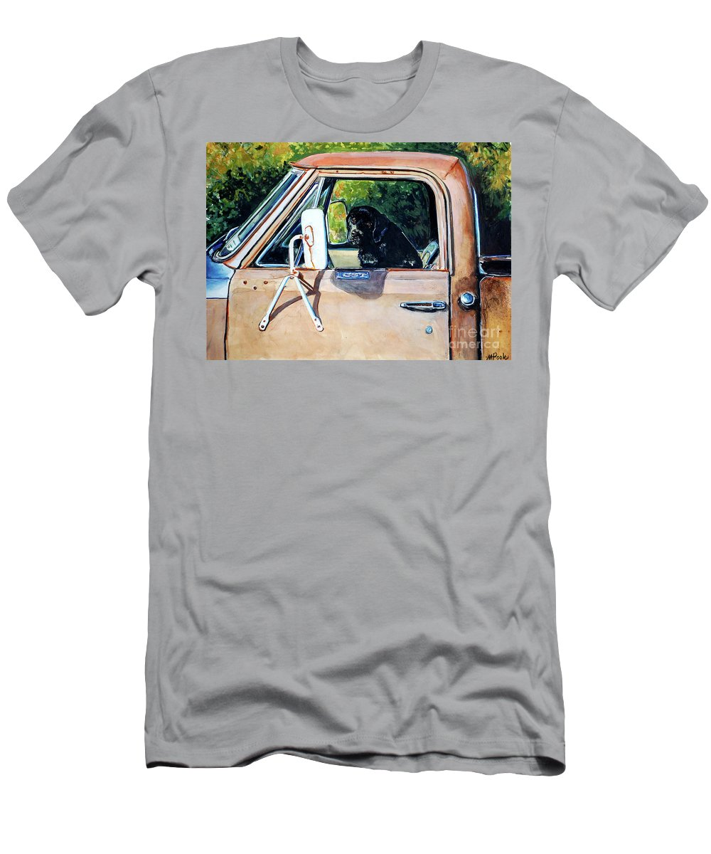 Black Labrador Retriever Men's T-Shirt (Athletic Fit) featuring the painting Take Me With You by Molly Poole