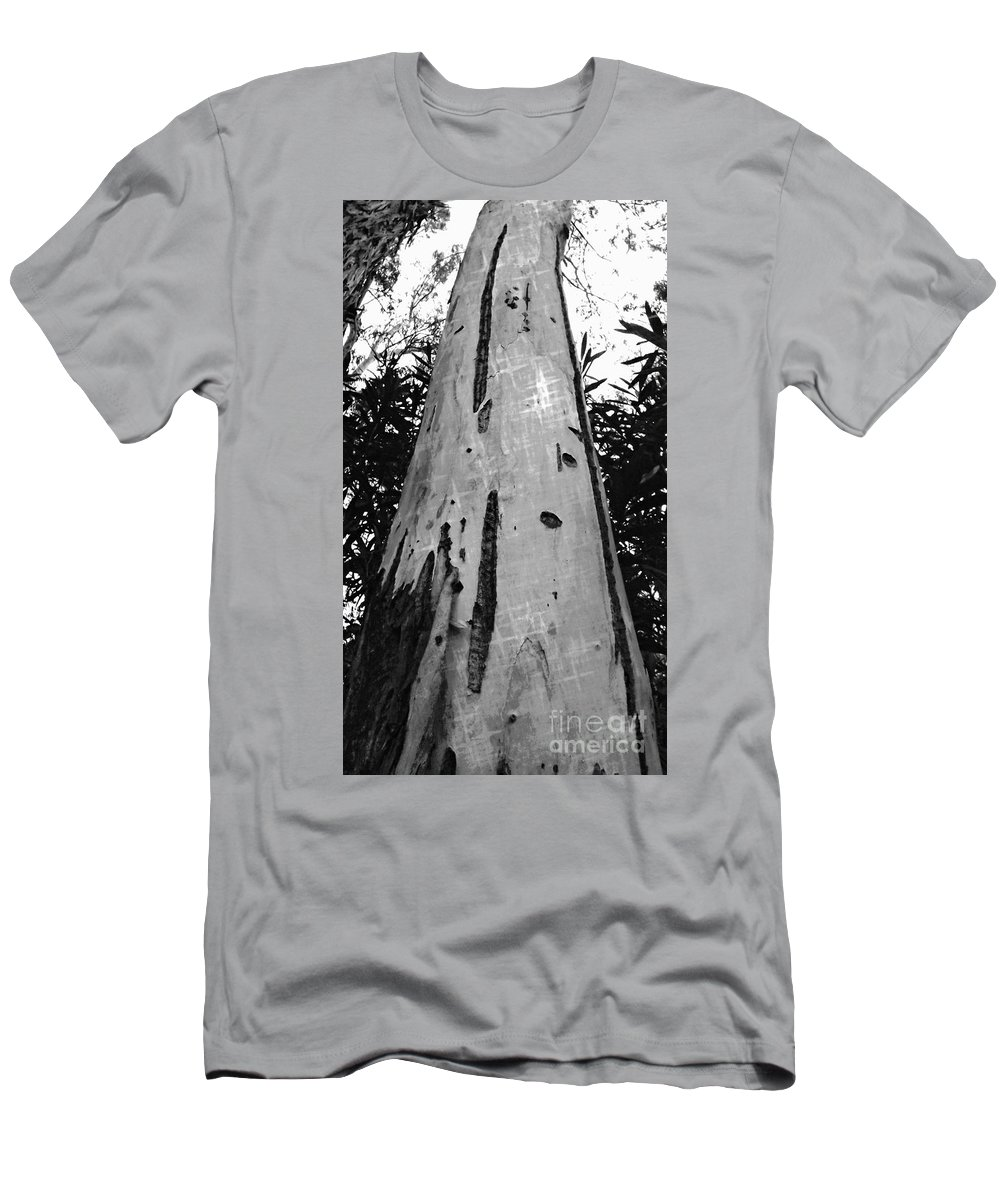 Tree Men's T-Shirt (Athletic Fit) featuring the photograph Tall by Clare Bevan