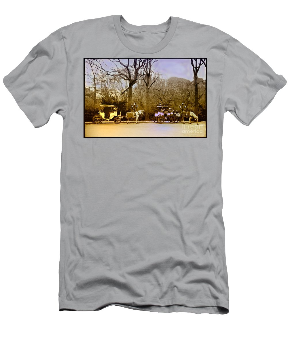 Hansom Men's T-Shirt (Athletic Fit) featuring the photograph Tavern On The Green by Madeline Ellis