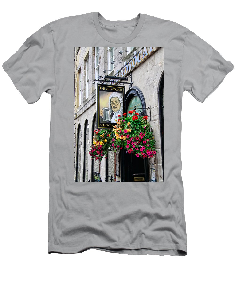 The Advocate Pub Men's T-Shirt (Athletic Fit) featuring the photograph The Advocate Pub by Jim Pruett
