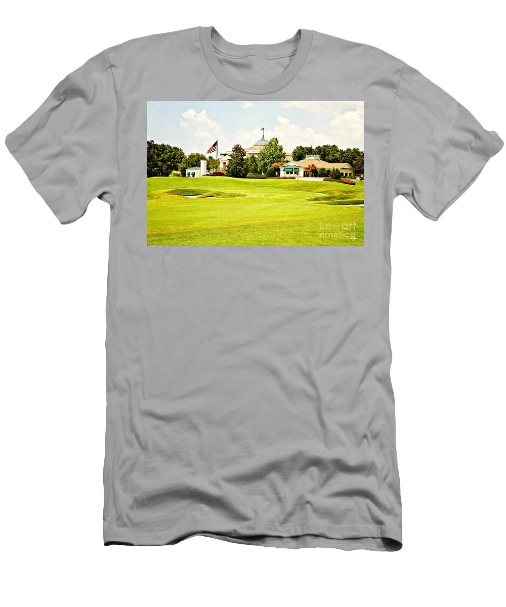 Golf Men's T-Shirt (Athletic Fit) featuring the photograph The Approach by Scott Pellegrin