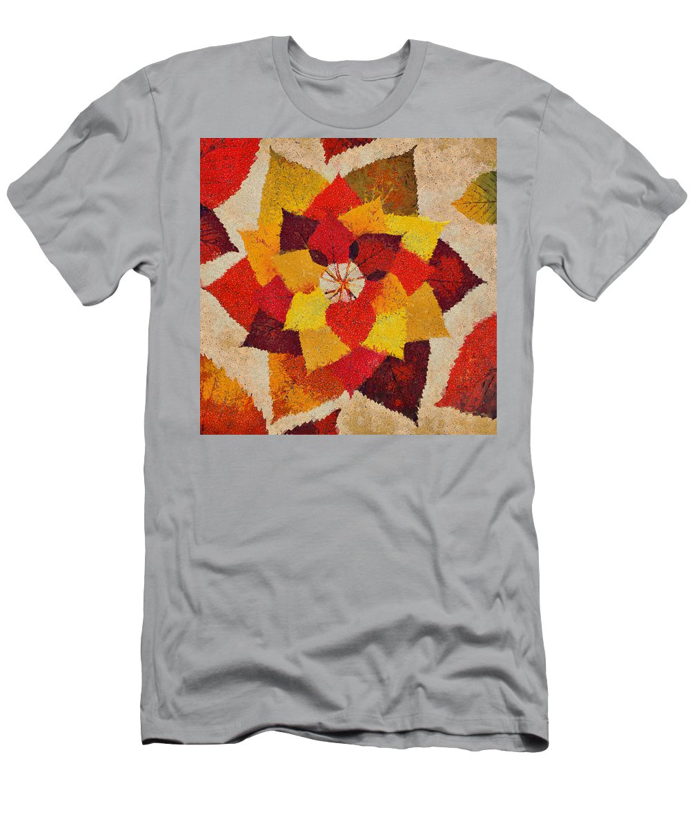 Fall Men's T-Shirt (Athletic Fit) featuring the mixed media The Artistry Of Fall Klimt Homage by Angelina Vick