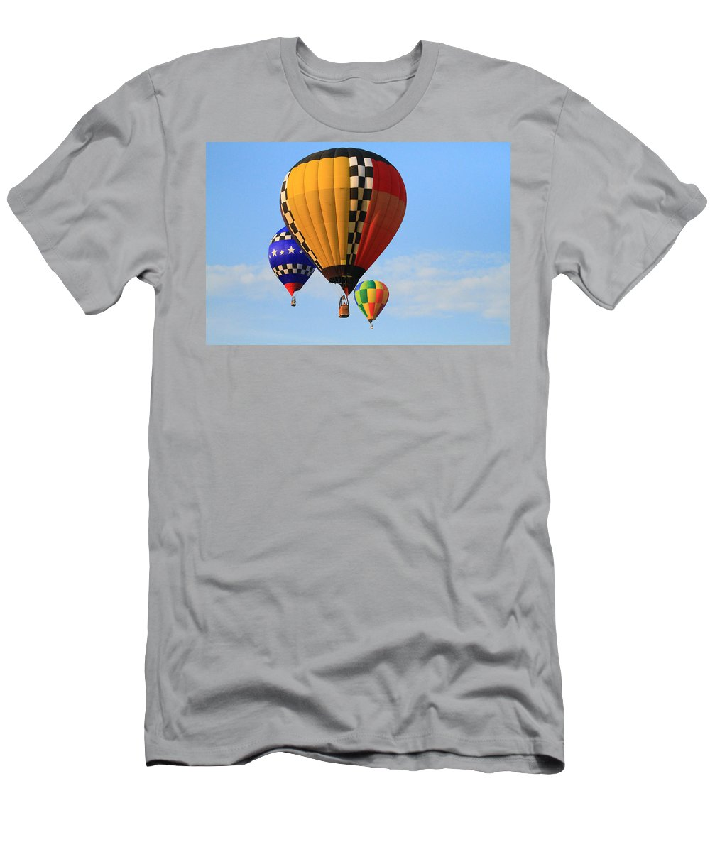 Balloons Men's T-Shirt (Athletic Fit) featuring the photograph The Balloons by Susie Hoffpauir