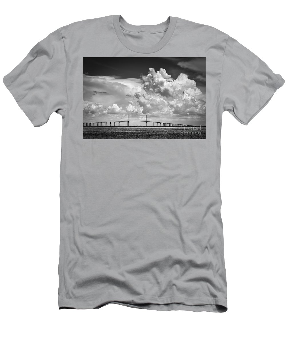 Clouds T-Shirt featuring the photograph The Beautiful Skyway by Marvin Spates